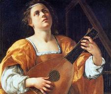 Artemisia Gentileschi - Santa Cecilia (1620) olio su tela - Roma,  Palazzo Spada